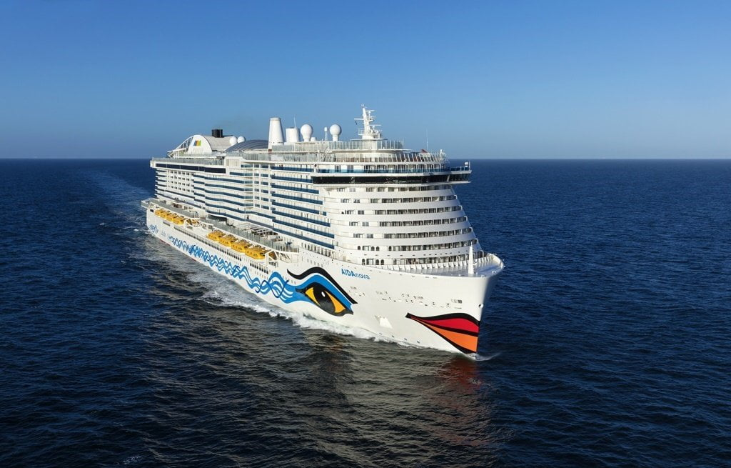 10 Biggest Cruise Ships in 2021- AIDA Nova Daily Logistics