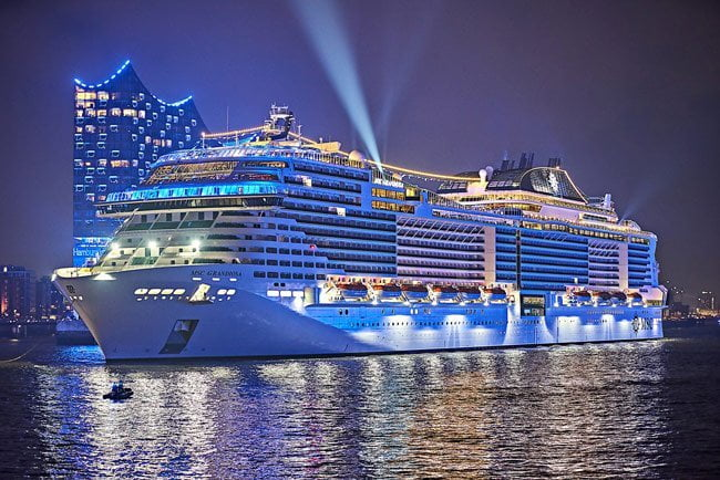 10 Biggest Cruise Ships in 2021- MSC Grandiosa Daily Logistics
