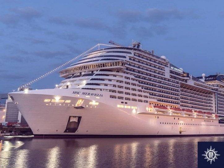10 Biggest Cruise Ships in 2021- MSC Meraviglia Daily Logistics
